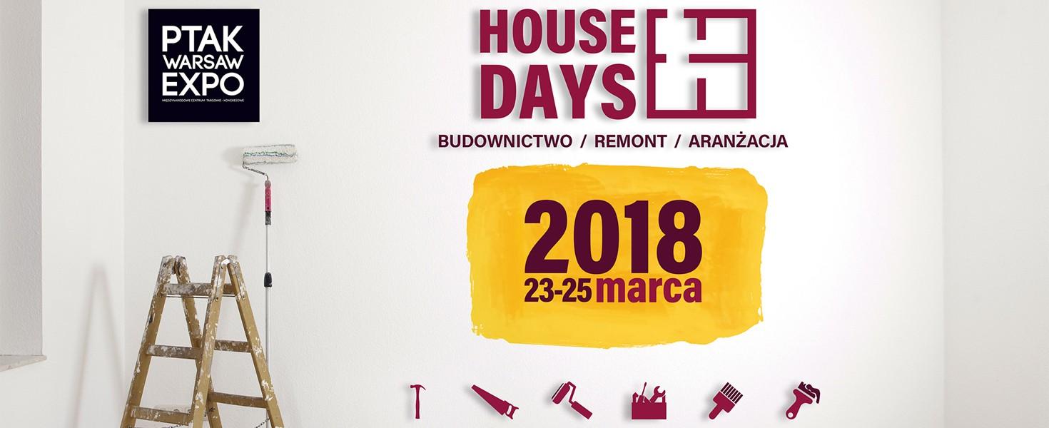Zapraszamy na Targi House Days 2018 w Warszawie