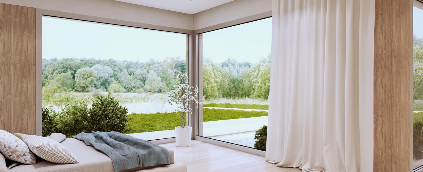 Aluminiowe drzwi przesuwne, panoramiczne przeszklenia