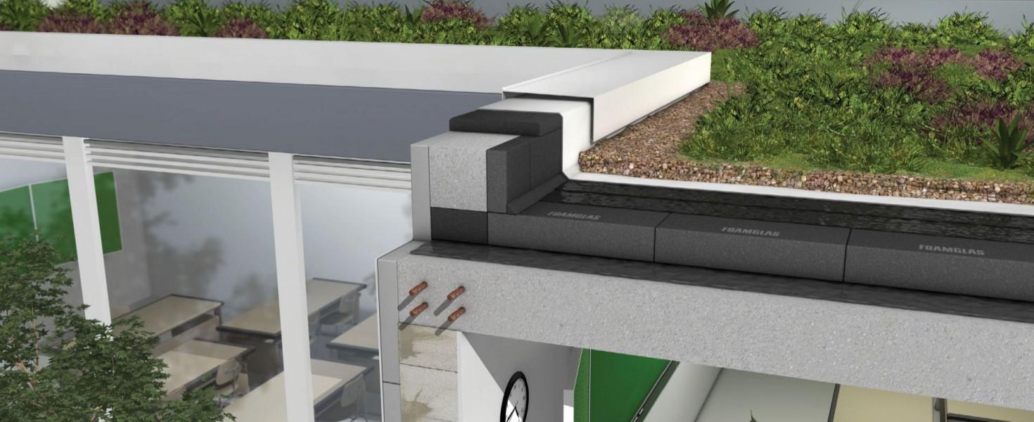 Izoluj płaskie dachy użytkowe, tarasy i dachy zielone spienionym szkłem komórkowym FOAMGLAS!
