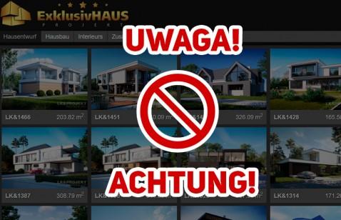 UWAGA! LK&Projekt GmbH nie jest naszym przedstawicielem