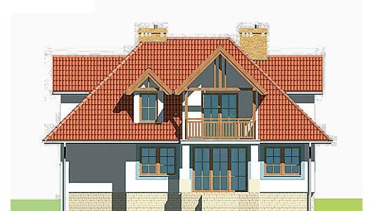 Projekt domu LK&166
