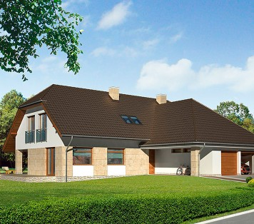 Projekt domu LK&743