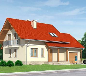 Projekt domu LK&636
