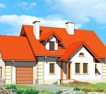 Projekt domu LK&593