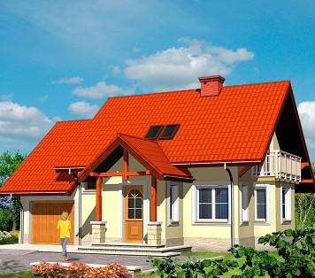 Projekt domu LK&487