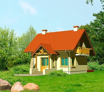 Projekt domu LK&281