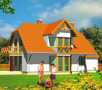 Projekt domu LK&187