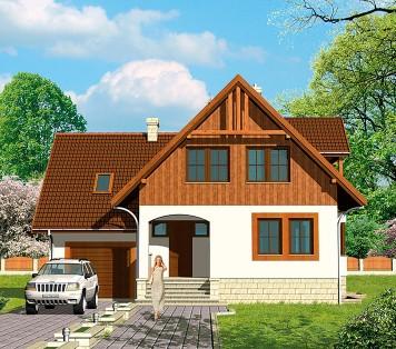 Projekt domu LK&153