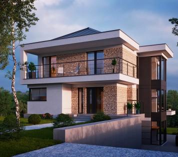Projekt domu LK&1491