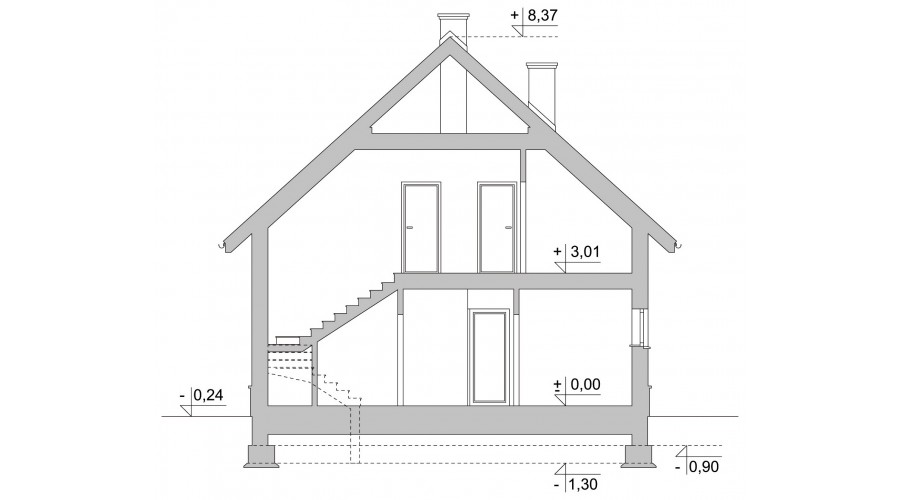 Projekt domu LK&1053