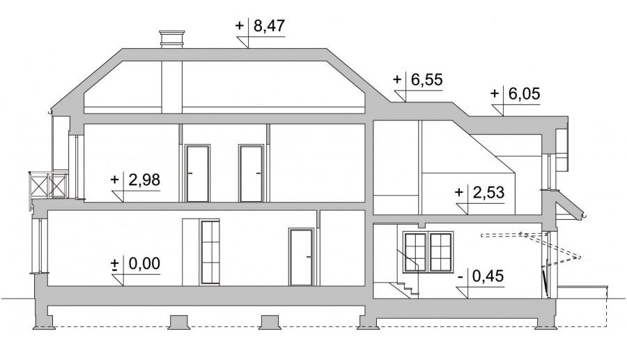 Projekt domu LK&1107
