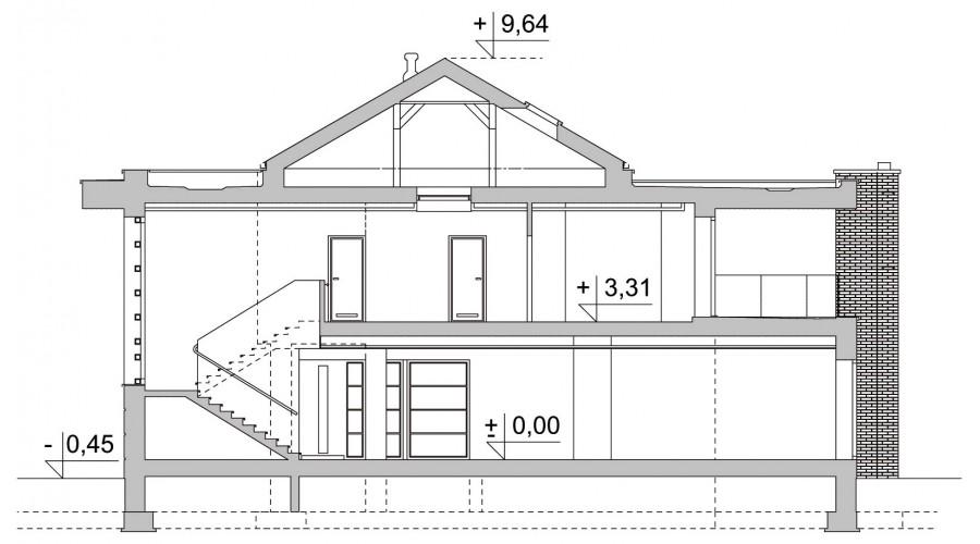 Projekt domu LK&1233