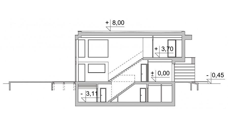Projekt domu LK&1256