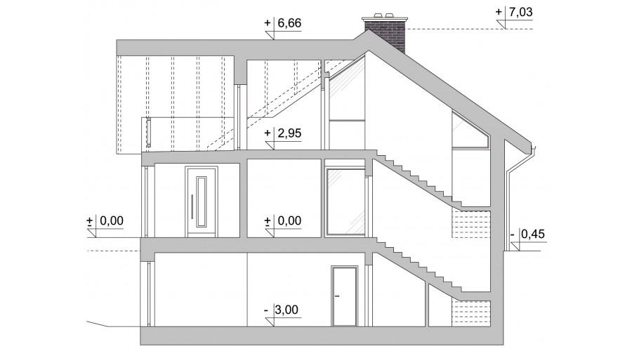 Projekt domu LK&1271