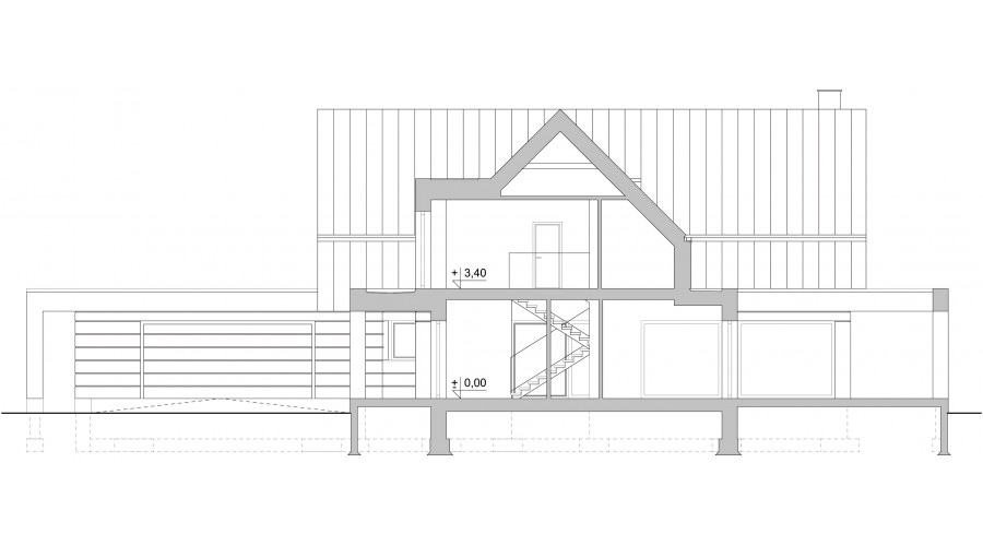 Projekt domu LK&1552