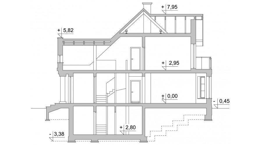 Projekt domu LK&160