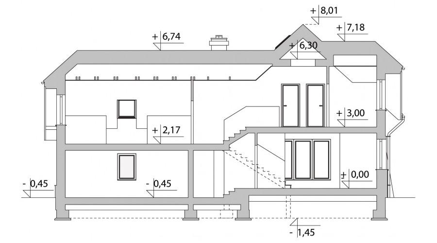 Projekt domu LK&244