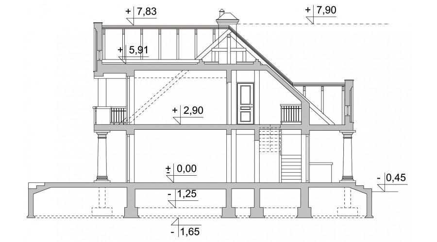 Projekt domu LK&293