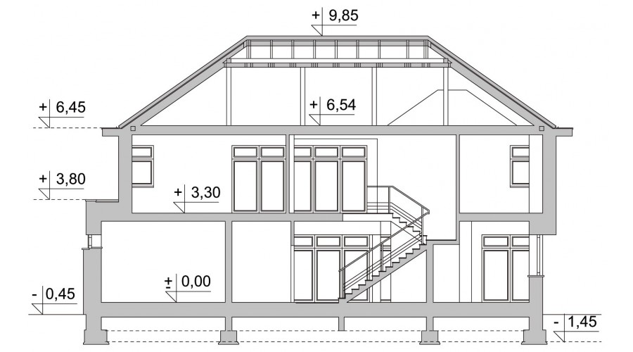 Projekt domu LK&624