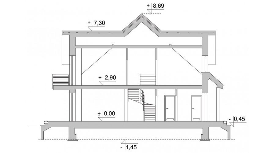 Projekt domu LK&824
