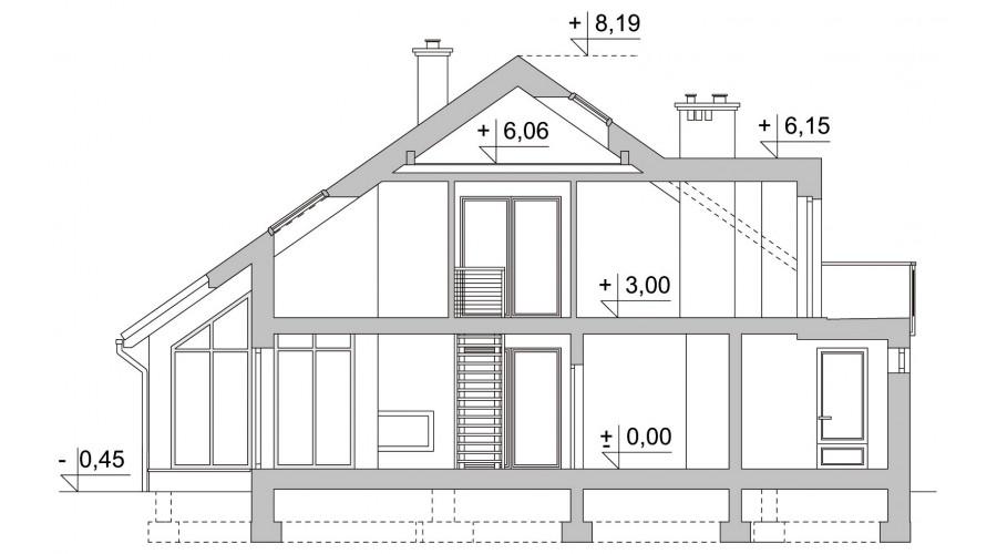 Projekt domu LK&979