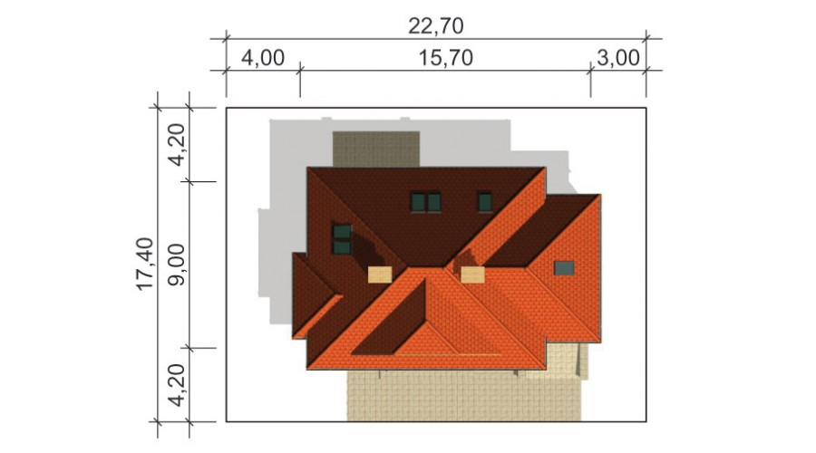 Projekt domu LK&128