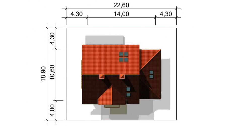 Projekt domu LK&334