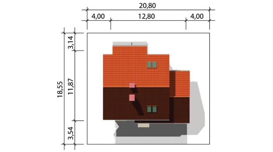 Projekt domu LK&375