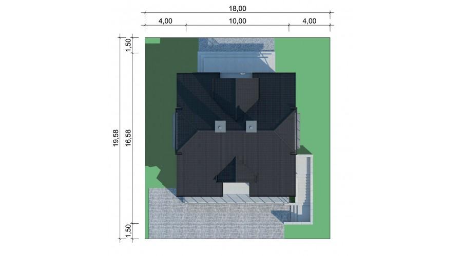 Projekt domu LK&554