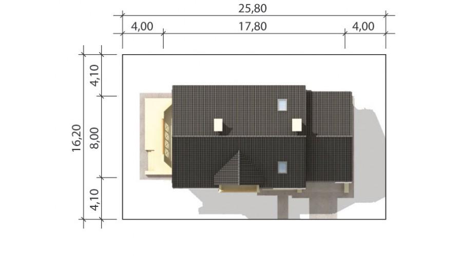 Projekt domu LK&597