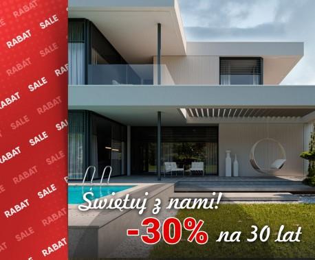 Rabat 30% na 30 lecie