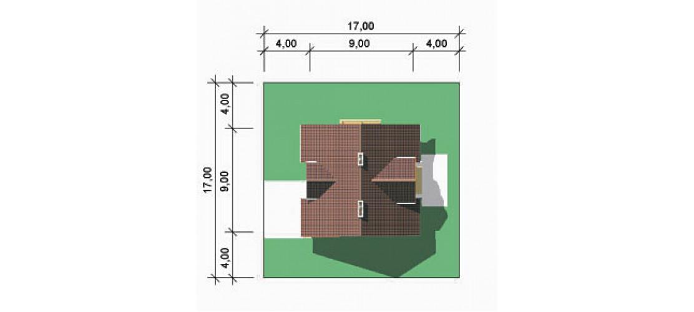 Projekt domu LK&196