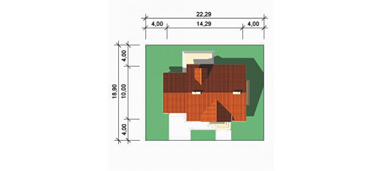 Projekt domu LK&258