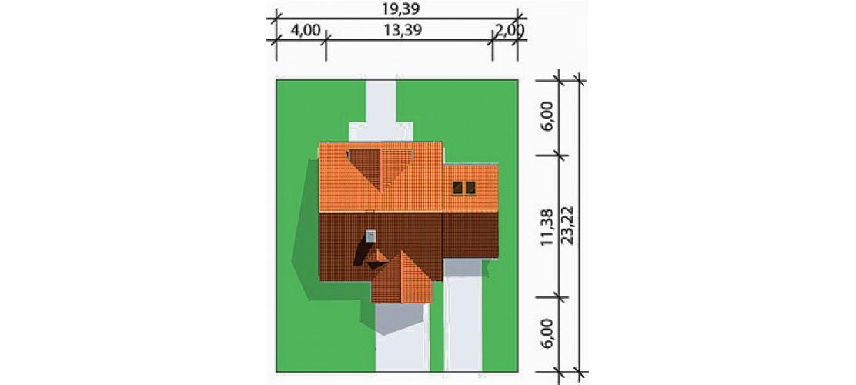 Projekt domu LK&180