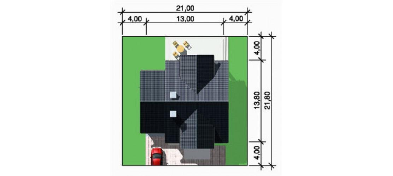Projekt domu LK&313