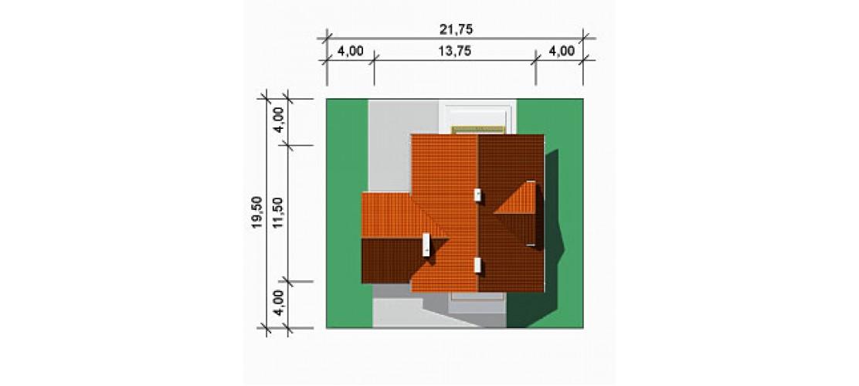 Projekt domu LK&182