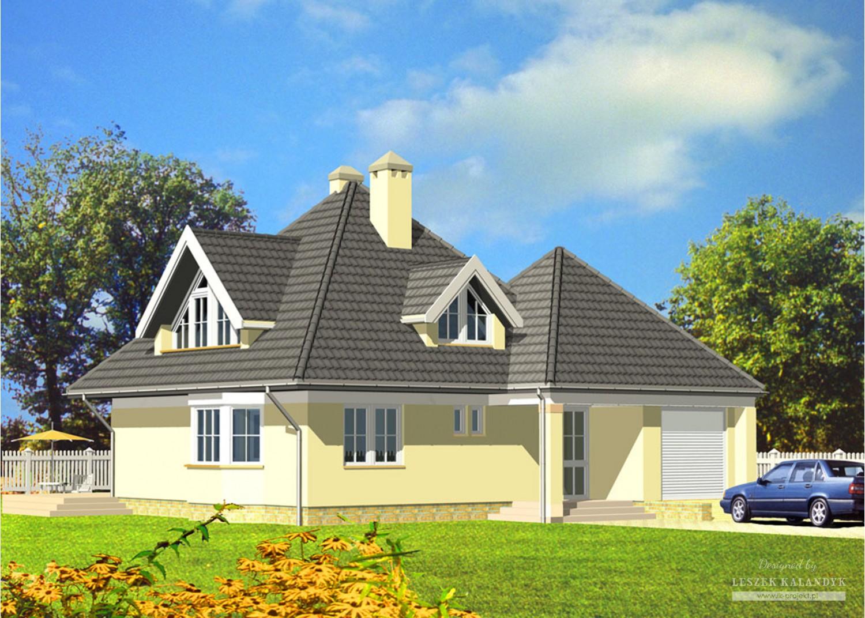 Projekt domu LK&195